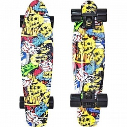 "Скейтборд RT Y-Scoo Fishskateboard Print 22"" с сумкой арт. 401G, 56,6х15"